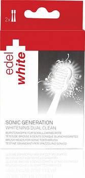 """Насадки для зубної щітки """"Відбілюючи"""" Edel+White Sonic Generation Whitening Dual Clean, 2 шт."""