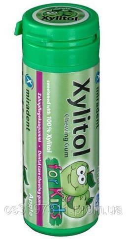 Жевательная резинка Miradent Xylitol Chewing Gum для детей Apple (яблоко), 30 шт.