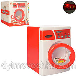 Пральна машина 5219 (12шт) 24см, звук, світло, вращ.барабан, на бат-ке, в кор-ке, 24,5-25-16,5 см
