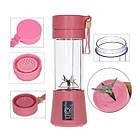 ОПТ Блендер чашка Розовый Juice Cup Fruits USB, фото 3