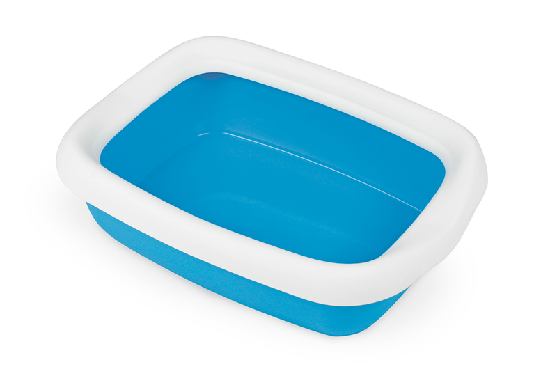 Туалет БЕТА ПЛЮС МАКСИ BETA PLUS MAXI пластиковый для кошек и собак мелких пород,49 x 39 x 17 см, цвет синий