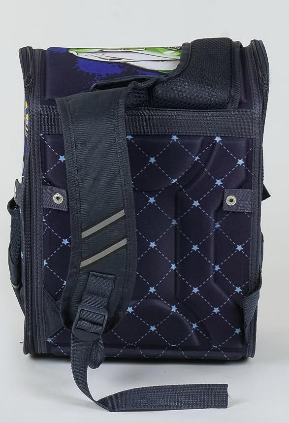 Школьный каркасный рюкзак вид сзади