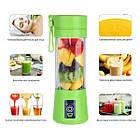 Блендер кружка Зеленый Juice Cup Fruits USB, фото 3