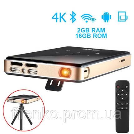 Мультимедійний Міні Смарт проектор P09 на Android Смарт ТВ 4K, Full HD, фото 2