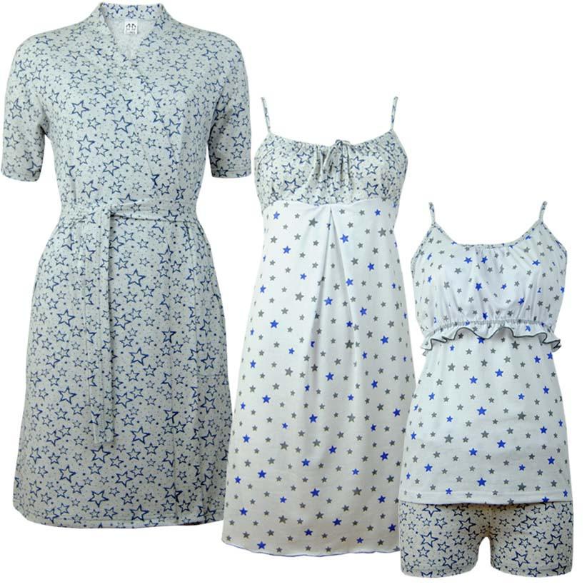 Комплект четвірка Зірки з коротким рукавом для вагітних