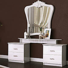Туалетный столик в спальню Прованс 4Ш PV-74-WB MiroMark белый глянец , фото 2