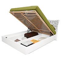 Кровать двуспальная с подъемным механизмом Богема BG-46-WB MiroMark белый глянец