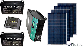 Автономная солнечная система для небольшого дома 1 кВт