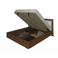 Кровать двуспальная с мягким изголовьем и подъемным механизмом Белла BL-49-VN MiroMark вишня бюзум/ваниль