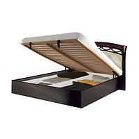 Кровать двуспальная с мягким изголовьем и подъемным механизмом Роселла RS-45-PR MiroMark перо рубино