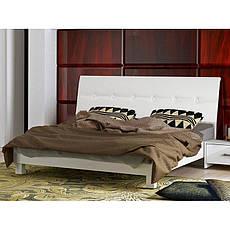 Кровать двуспальная с мягким изголовьем и подъемным механизмом Рома RM-49-WB MiroMark белый глянец, фото 2