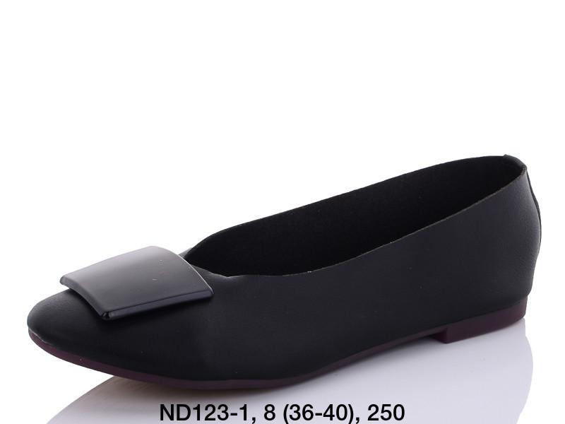 Балетки женские черные Teetspace-Trasta-Egga-ND123-1