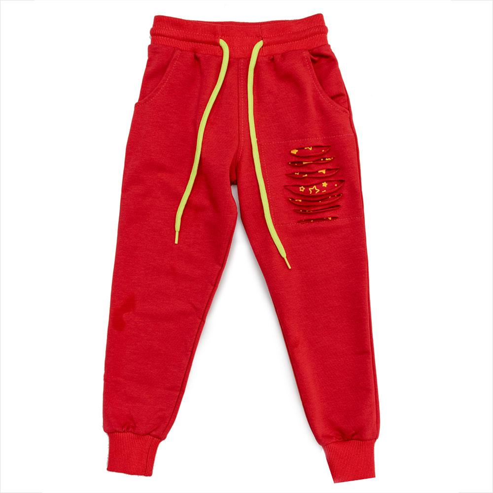 Брюки спортивные для девочек Poiray 104  красные 981028