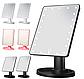 Настільне дзеркало для макіяжу з підсвічуванням 22 LED сенсорне біле, фото 4