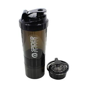 Бутылка для воды из трех слоев SPIDER HC801 Black объем 500ml спортивных коктейлей с поилкой, фото 2