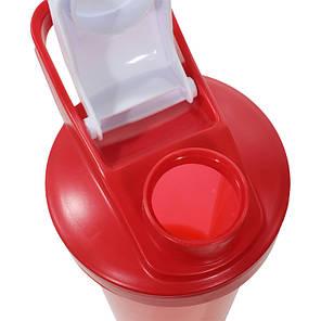 Спортивная бутылка для воды Lesko HC45 Red 600ml энергетических коктейлей спортсменов, фото 2