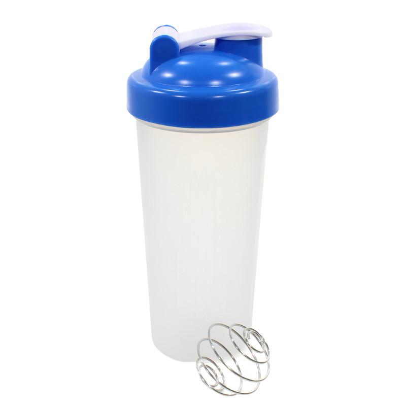 Бутылка для воды с пружиной Lesko HC175 Синий 600ml спортивная приготовления и смешивания коктейлей
