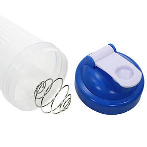 Бутылка для воды с пружиной Lesko HC175 Синий 600ml спортивная приготовления и смешивания коктейлей, фото 2