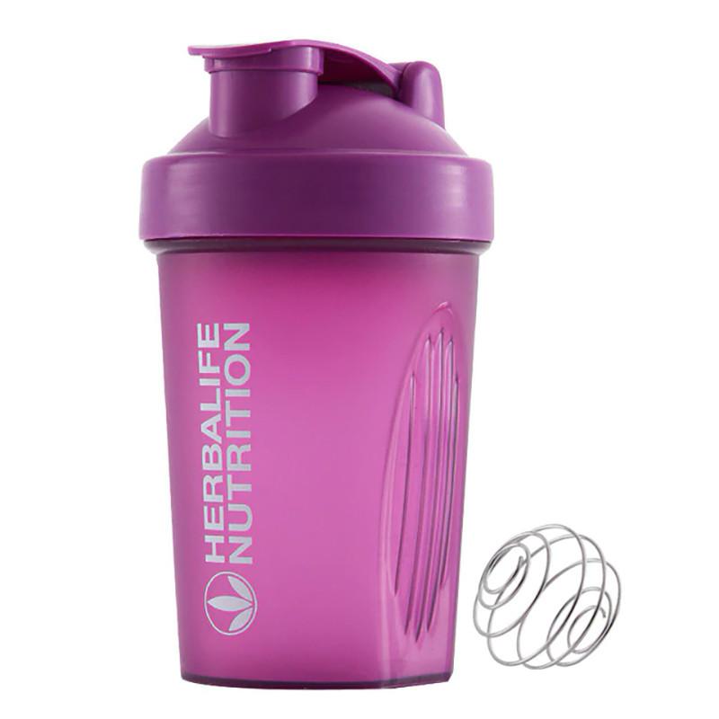 Спортивная бутылка шейкер Lesko HC752 Purple с пружиной для жидкости питания спортсменов 400ml