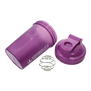 Спортивная бутылка шейкер Lesko HC752 Purple с пружиной для жидкости питания спортсменов 400ml, фото 2