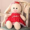Заяц Тильда Бася красный мягкая игрушка, фото 8