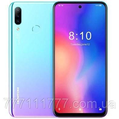 Смартфон синий с большим дисплеем и тройной камерой на 2 сим карты Homtom P30 Pro Blue 4/64Гб