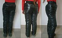 Детские теплые брюки на синтепоне для девочки / черные