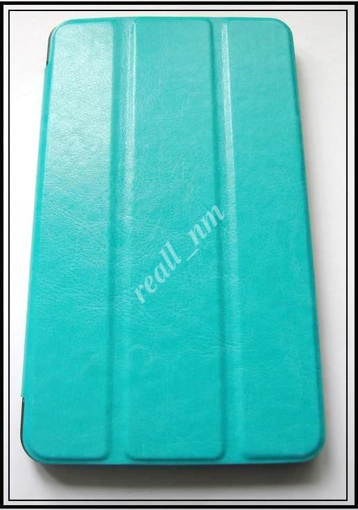 Бирюзовый Tri-fold case чехол-книжка для планшета Asus Fonepad 7 Fe171CG
