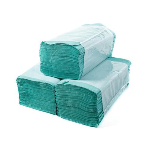 Бумажные полотенца (салфетка) вкладыш ZZ (V)-сложения зеленые 160 листов
