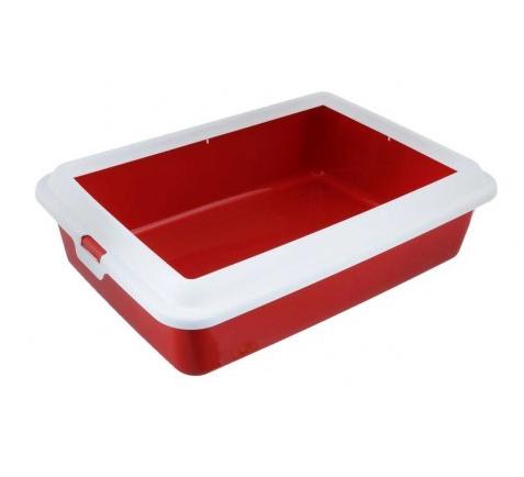 Туалет ГИДРА МИНИ HYDRA MINI пластиковый для кошек и мелких пород собак, 43*31*12 см, цвет красный