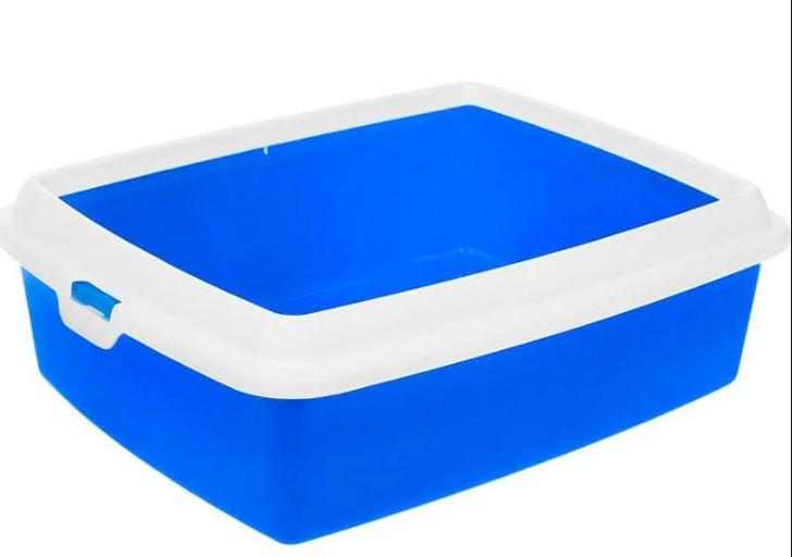 Туалет ГИДРА МИНИ HYDRA MINI пластиковый для кошек и мелких пород собак, 43*31*12 см, цвет синий