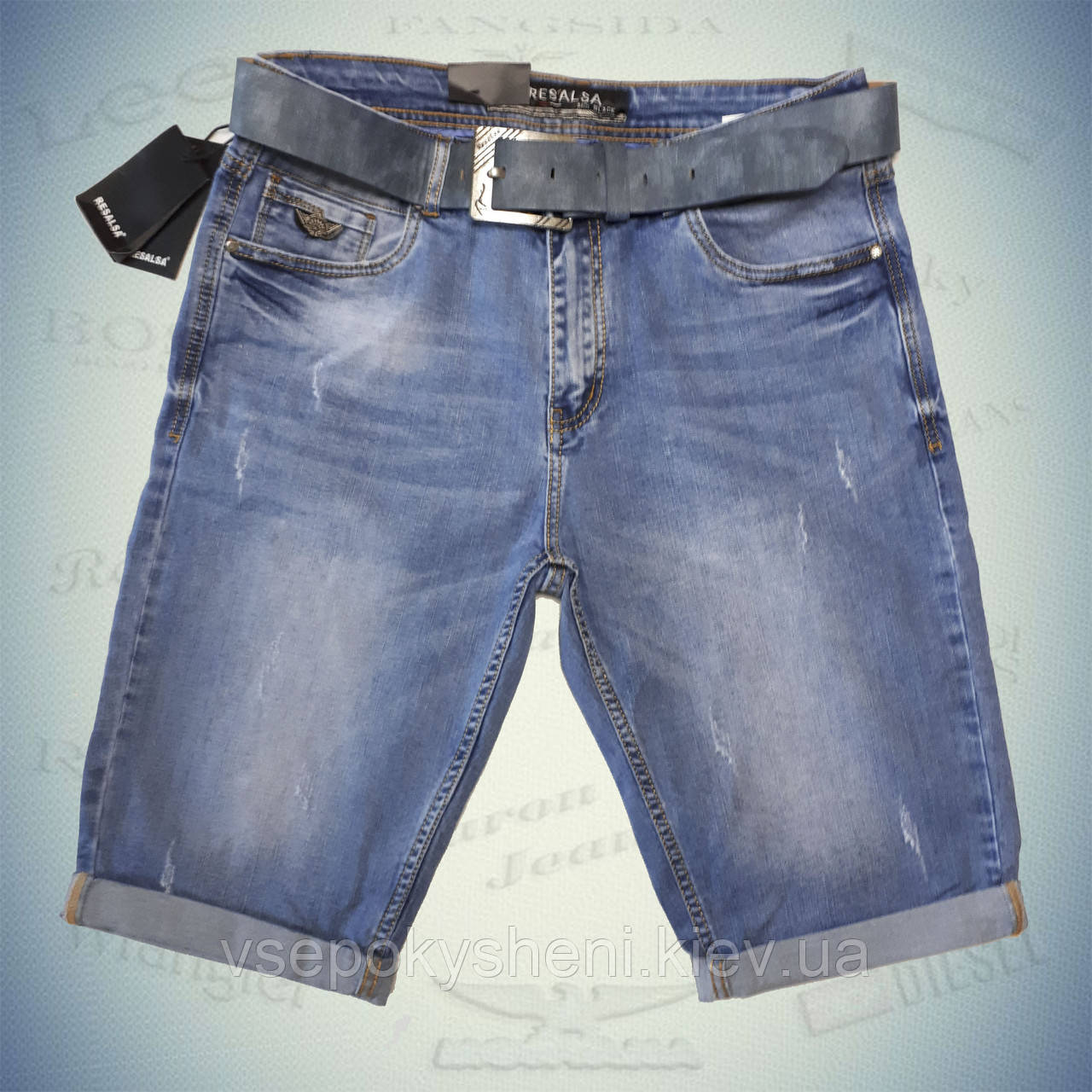 Шорты джинсовые мужские RESALSA размеры 30,31,32,33,34