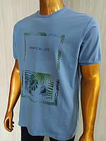 Мужская футболка Tony Montana. MSL-2066(голубой). Размеры: M,L,XL,XXL., фото 1