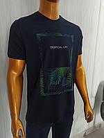 Мужская футболка Tony Montana. MSL-2066(тёмносиний). Размеры: M,L,XL,XXL., фото 1