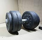 Лава регульована + Стійки + Штанга і гантелі 108 кг, фото 7
