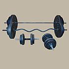 Лава регульована + Стійки + Штанга пряма, W-подібна і гантелі 142 кг, фото 7