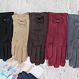 """Перчатки женские ЗАМШЕВЫЕ, с пальчиком для СЕНСОРА, """"Paidi"""", РОСТОВКА,  качественные женские перчатки, фото 2"""