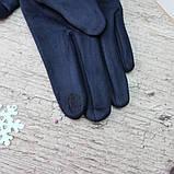 """Перчатки женские ЗАМШЕВЫЕ, с пальчиком для СЕНСОРА, """"Paidi"""", РОСТОВКА,  качественные женские перчатки, фото 3"""