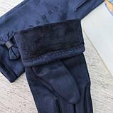 """Перчатки женские ЗАМШЕВЫЕ, с пальчиком для СЕНСОРА, """"Paidi"""", РОСТОВКА,  качественные женские перчатки, фото 4"""