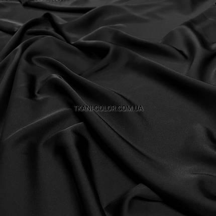 Ткань шелк армани черный, фото 2