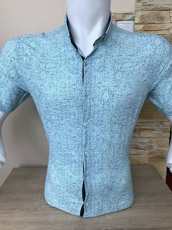 Сорочка з коротким рукавом Pierrini льон, фото 2