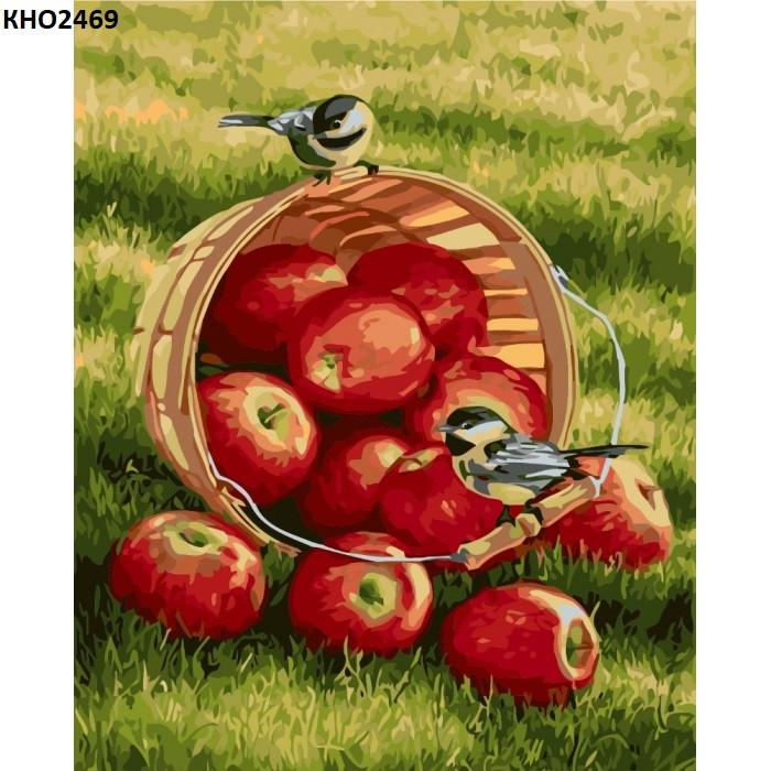 "Картина по номерам.""Хрустящие яблочки"" 40х50см"