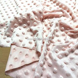 Ткань плюш Минки пупырышки персиковый