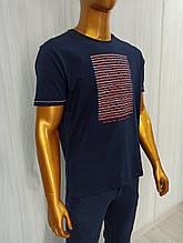 Мужская футболка MCL. Mod.35257(тёмносиний). Размеры: M,L,XL,XXL.