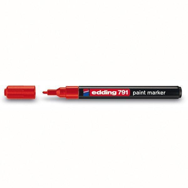 Лаковий Маркер Edding 1-2 мм червоний e-791/02