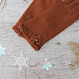 "Перчатки женские ""Paidi"", РОСТОВКА, трикотаж на МЕХУ,  качественные женские перчатки, фото 3"