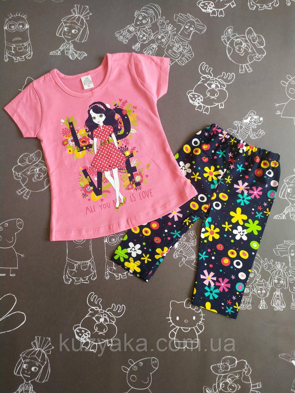 Детский летний костюм для девочки на 1-2 года