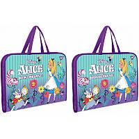 Папка-портфель YES на молнии с тканевыми ручками ''Alice''