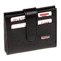 Кожаный картхолдер с отделением для купюр BUTUN 131-004-001 черный