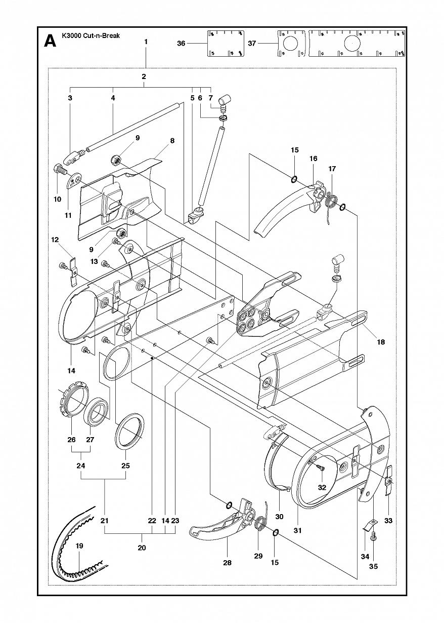 1 РЕМЕНЬ И ШКИВ | K3000 Cut-n-Break 2008-05 Резчик Хускварна электрический | дисковый |